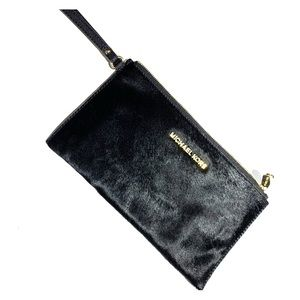 MICHAEL Michael Kors Bedford Haircalf Zip Clutch